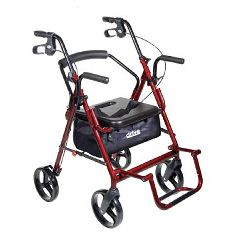 Drive Medical Duel Transport Chair and Rollator Combo